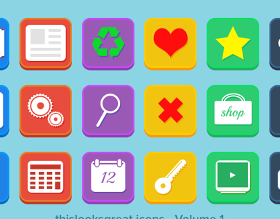 Freebie PSD: 18 Flat Icons – Volume 1
