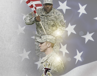 Atlanta Falcons Salute to Service Site Tile