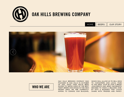 Oak Hills Brewing Co. Website Redesign