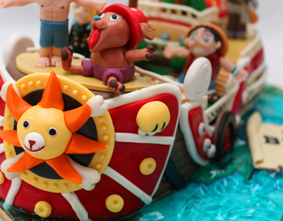 One Piece Fondant Ship