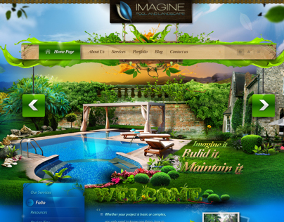 Imagine Pool and Landscape LLC - website