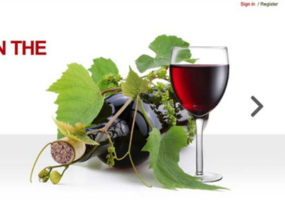 Wine Blog  webpage design
