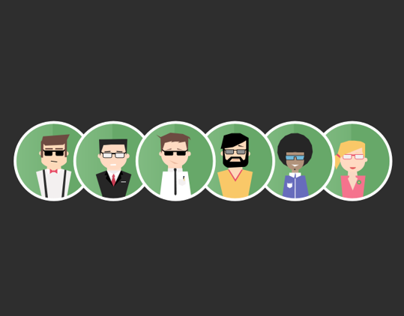 Flat avatars icons