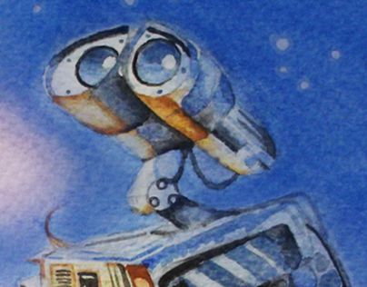 WALL E Watercolor