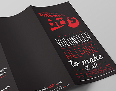 Summer of the Arts-Volunteer Brochures