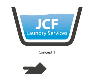JCF Laundry Services Logo Designs