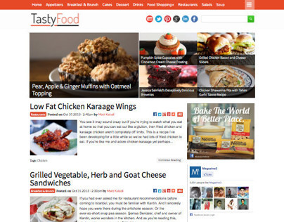 TastyFood - WordPress Food Magazine Theme