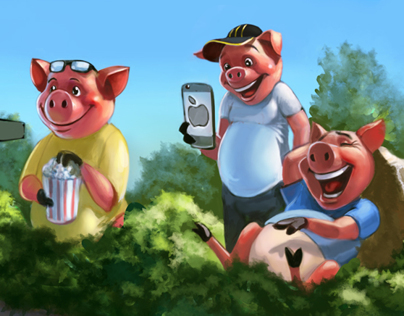 3 pigs. Gadgets in fairy tales.