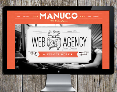 Manuco website design