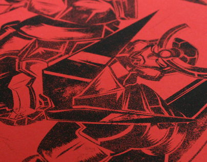 Gurren Lagann A2 Screen Print