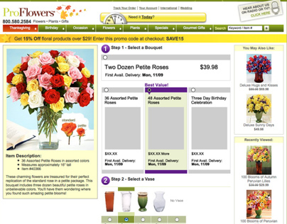 Proflowers Multivariate Test for Product Page