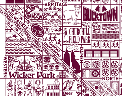 Bucktown and Wicker Park Map