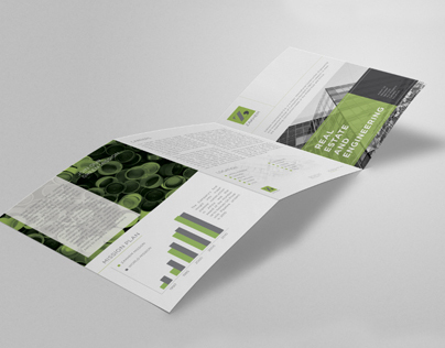 A4 Tri-Fold Brochure Mock-up