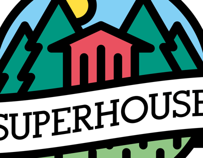 SuperHouse logo design
