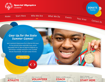 Special Olympics Louisiana - Web Design