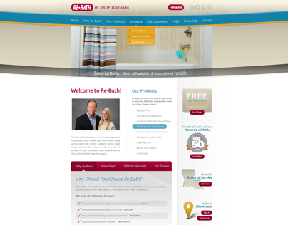 Re-bath of South Louisiana - Web Design