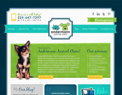 ANDERMANN ANIMAL CLINIC - Web Design