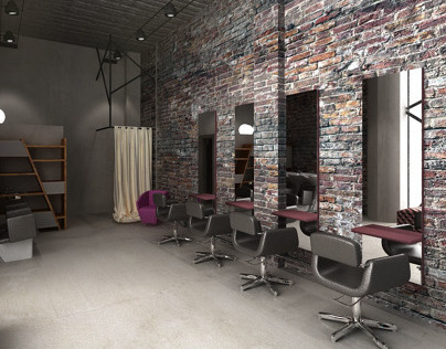 loft hair salon desing