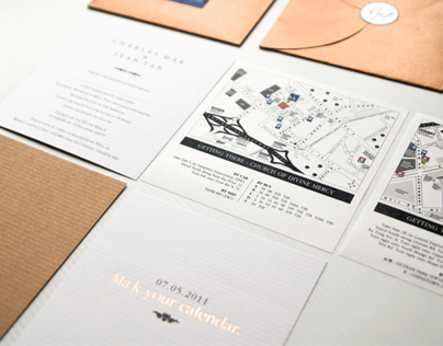 PRINT: Charles & Jean - Wedding Invitation