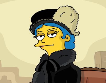 Simpsonization of Kramskoys picture «Unknown Lady»