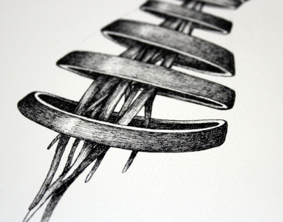 Akeku en filetes. Pigment Ink.
