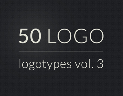 50 logos, logotypes vol. 3