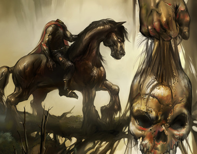 Headless Horseman Digital Painting