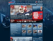 Buffalo Bills Website  - Homepage design
