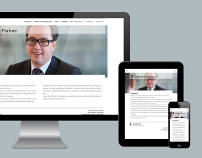 Website for Zuhorn & Partner