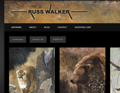Russ Walkers Artist Website