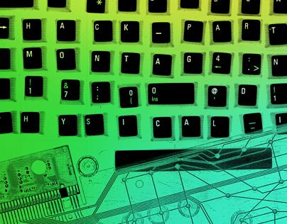 Keyboard Hack Party Invitation