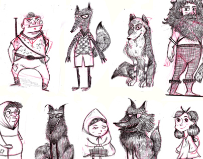 Red Riding Hood Visual Development