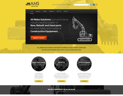 Redesign of www.amsconstructionparts.com