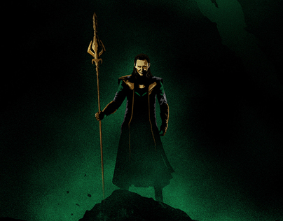 Thor: The Dark World illustrated poster - Loki