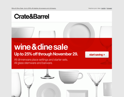Crate&Barrel Eblast Redesign
