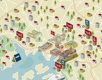 Nordic Choice Magazine – Map of hotels and landmarks