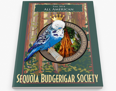 Sequoia Budgerigar Illustration