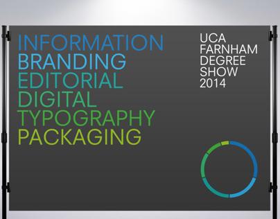 Exhibition Design: UCA Farnham 2014 Degree Show