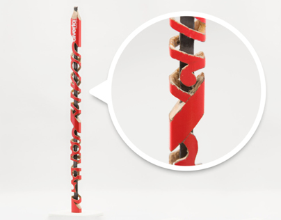 Miniature Carved Pencil Graffiti #2