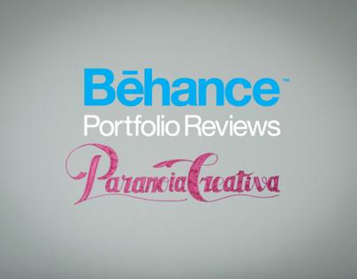PARANOIA CREATIVA  ·  BEHANCE PORTFOLIO REVIEW
