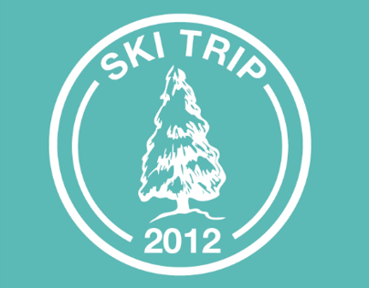 Galaxy Ski Trip T-Shirt Design 2012