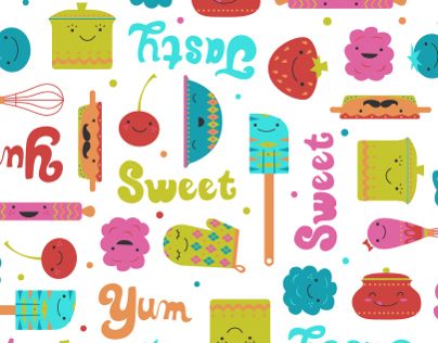Happy Kitchen Bolt Fabric