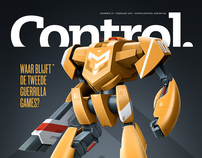 Control Magazine cover & item
