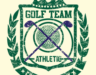 golf team badge vector art