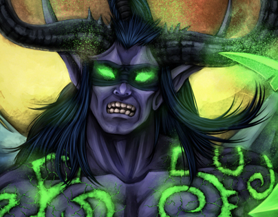 Illidan on the darkness