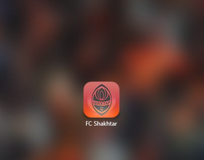 iOS7 icon for FC Shakhtar