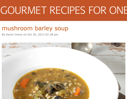 Gourmet Recipes for One Email