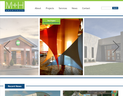 M + H Architects Website Redesign