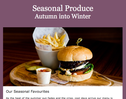 Seasonal Produce | Email Marketing