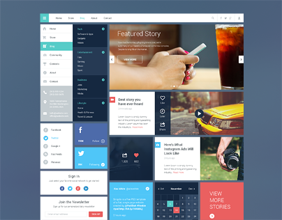 Blog/Magazine UI Kit #2